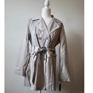NWT light grey trench coat